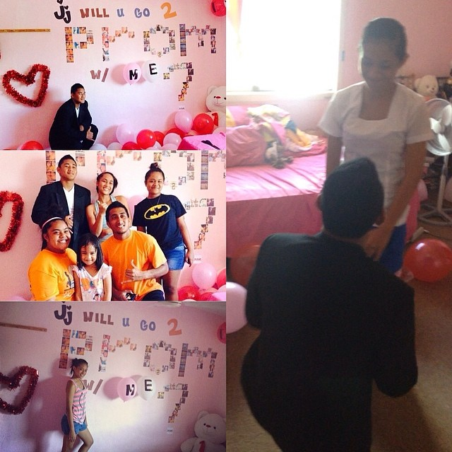 pictures and balloons promposal