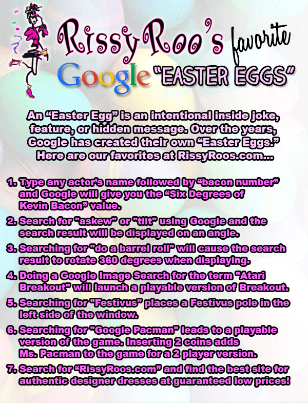 Google Easter Eggs 2014