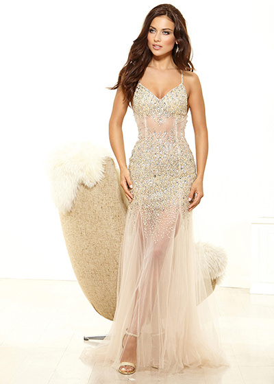 Terani p3131 nude dress