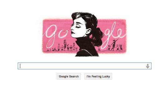 Google Doodle Audrey Hepburn