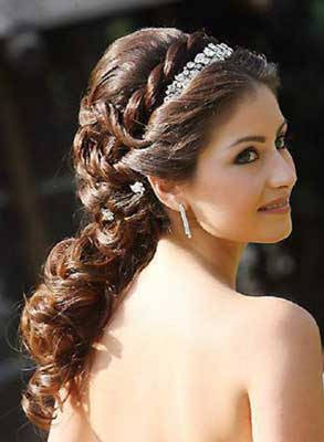 Pretty Quinceanera Hairstyle