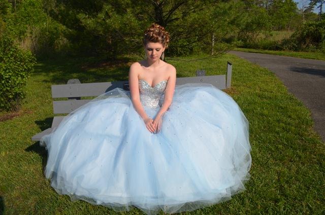 Tori Springer in her prom dress