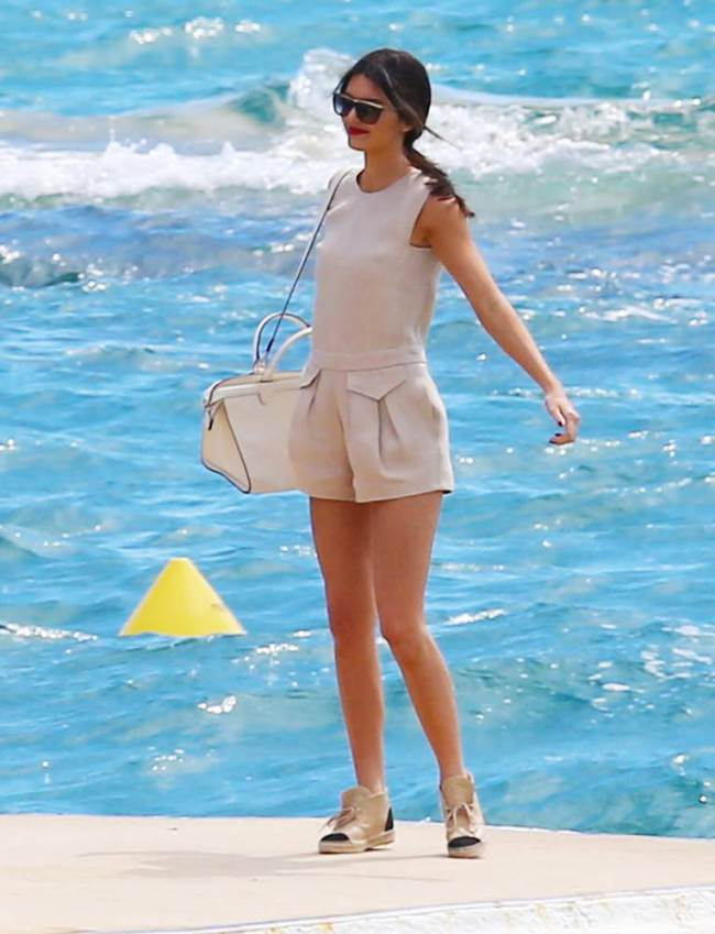 Kendall Jenner In Longchamp at Cannes