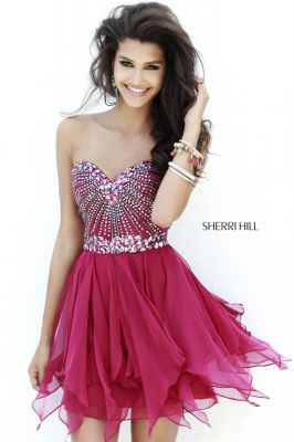 Sherri Hill Fall 2014 Style 1931 Beaded Sweetheart Short Dress