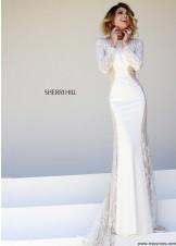Sherri Hill 32027 Ivory Long Dres