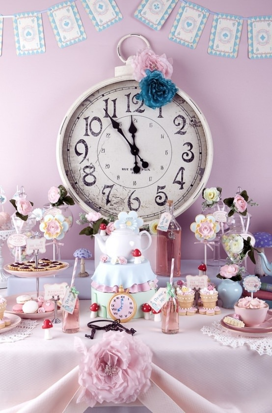 Summer Sweet 16 Party Idea- Alice in Wonderland Tea Party