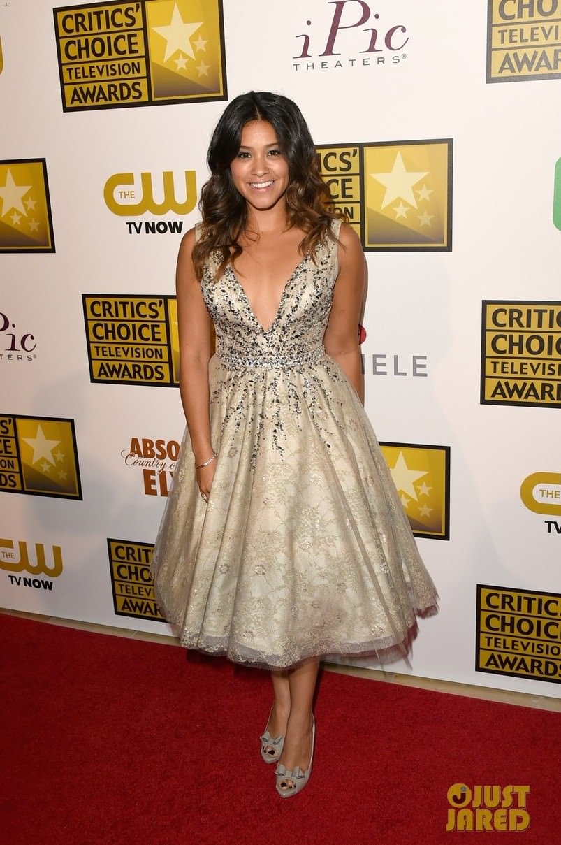 Gina Rodriguez Wears Couture Mac Duggal at Critics' Choice Television Awards