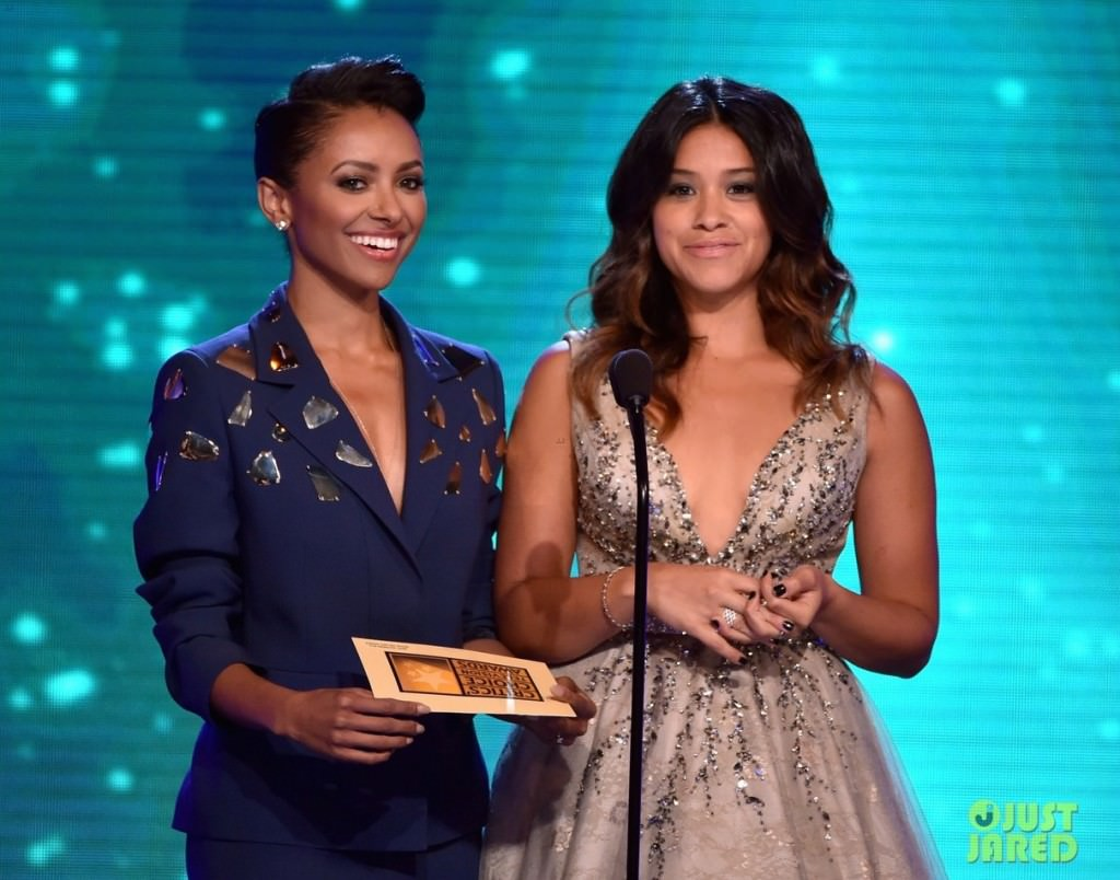 Kat Graham and Gina Rodriguez Present at the 4th Annual Critics' Choice Television Awards