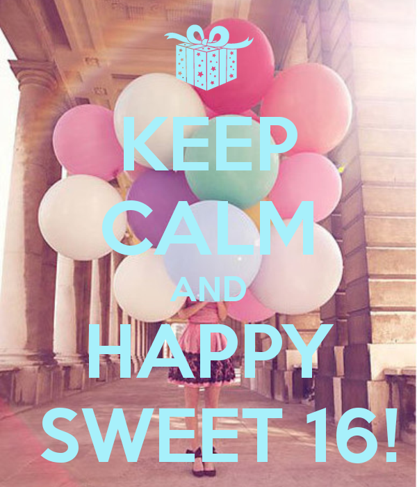 Summer Sweet 16 Party Trends-Keep Calm and Happy Sweet 16