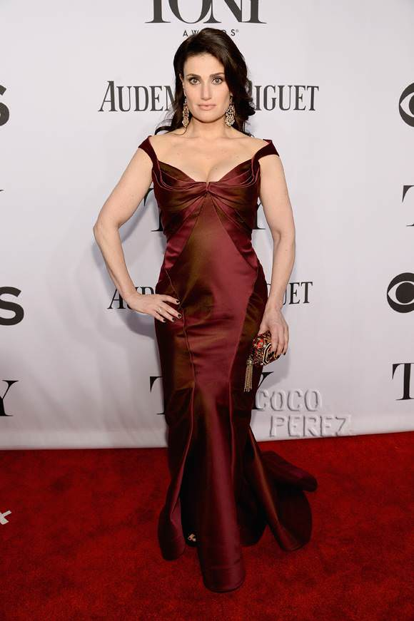 Best Dressed Tony Nominee Idina Menzel in Zac Posen
