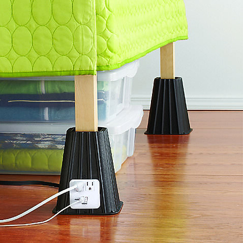 Dorm Room Must Haves-7 Inch Power Bed Raisers