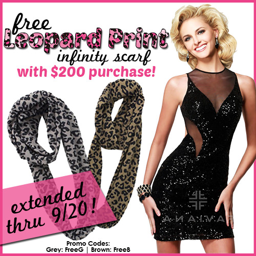 Get a FREE Leopard Print Scarf through Saturday