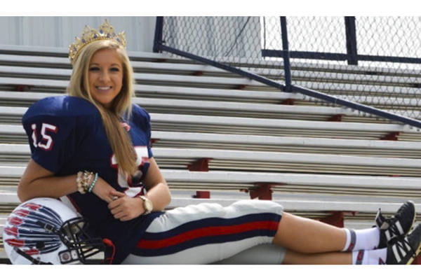 Mary Kate Smith is Homecoming Queen and the kicker on her school's football team