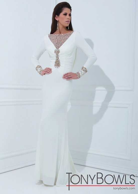 Tony Bowls Evenings TBE11457 Long Sleeve Gown