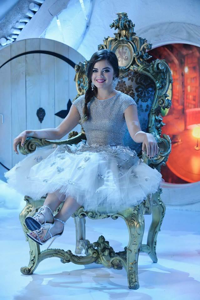 Aria PLL Christmas Dress