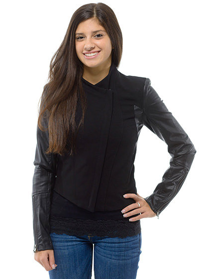 Vegan Leather Jacket 85-53lj-f
