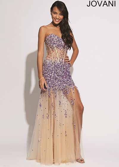 Jovani 88463 Sheer Dress