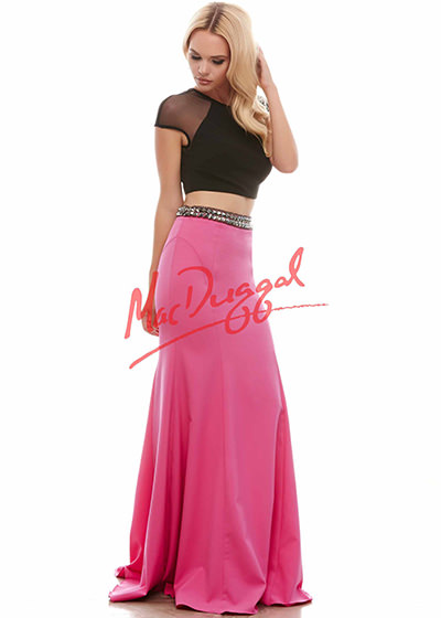 Mac Duggal 82376 Two Piece Prom Dress