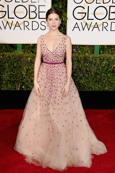 Anna Kendrick at the 2015 Golden Globe Awards