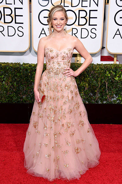 Greer Grammer at the 2015 Golden Globes