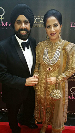 Mac Duggal and His Wife at the Oscars Viewing Party