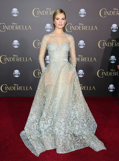 Lily James Cinderella Dress