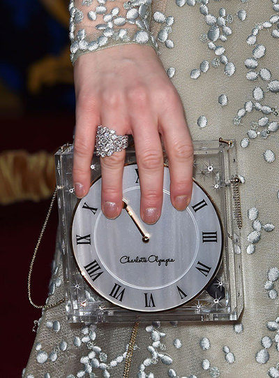 Lily James Cinderella Clock Clutch