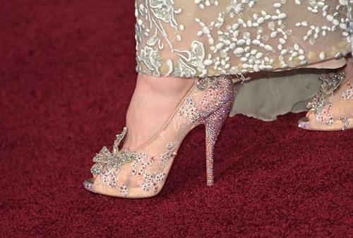 Lily James Cinderella Heels