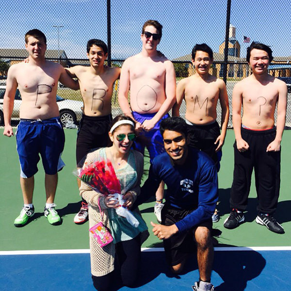 Janey's Surprise Promposal on the Tennis Court