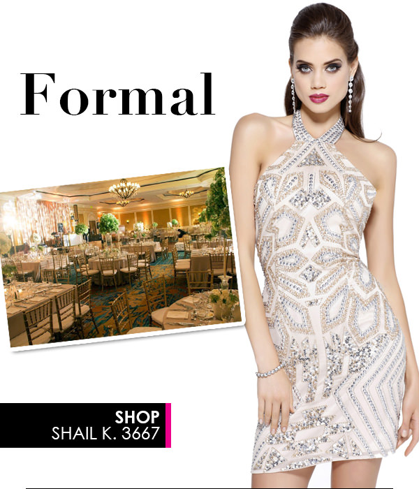 Formal Cocktail Dress Shail K 3667