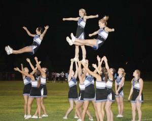 Homecomin Football Cheerleaders