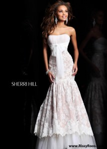 Sherri Hill 21010 Strapless Lace Dress