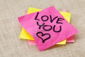 I Love You Crush Post It