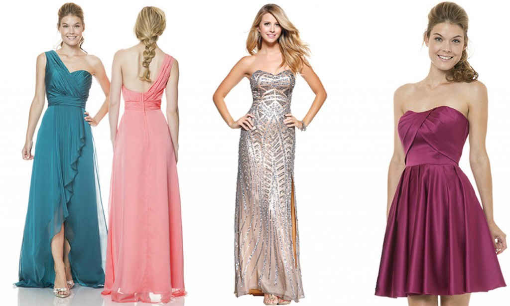trio bridesmaid dresses