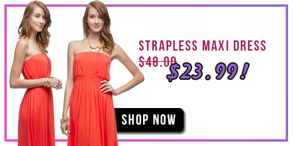 Tomato Dress Strapless Maxi Dress