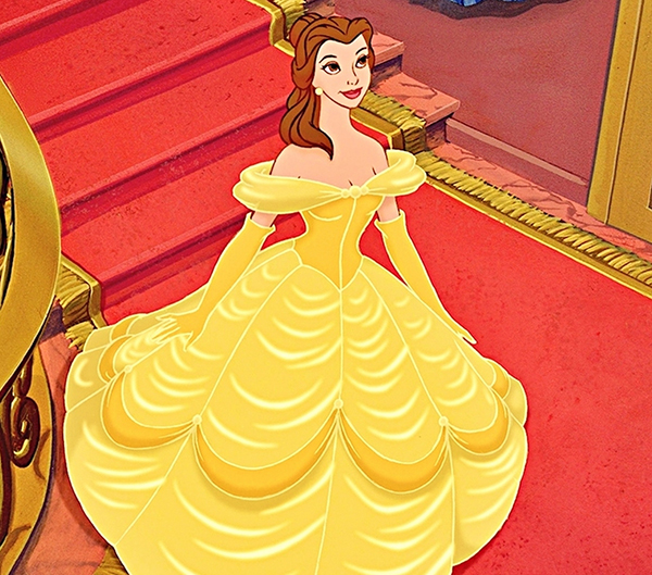 Disney Beauty And The Beast Belle Long Curly Reddish Brown: Dressing Like Disney's Belle On The 2015 Emmys Red Carpet
