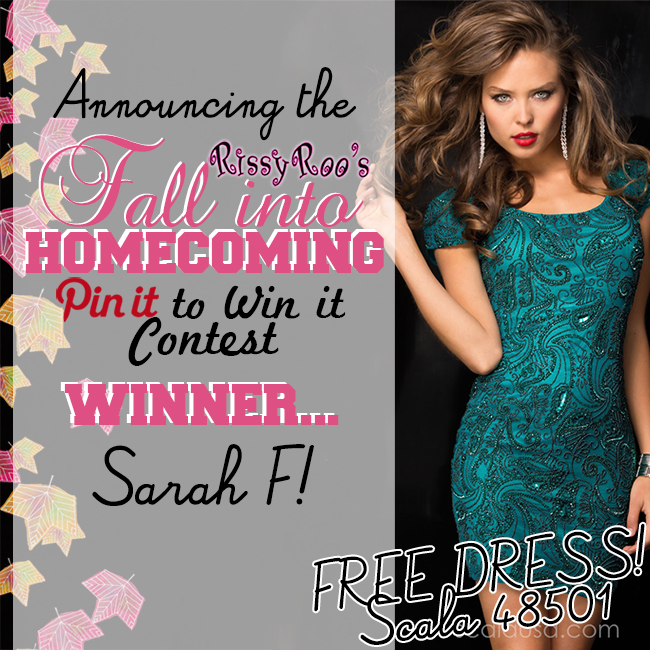 Fall Into Homecoming Pinterest Contest Winner