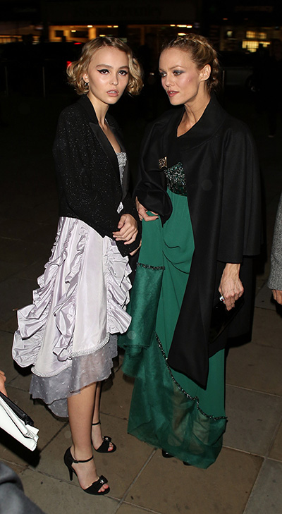 Lily-Rose Depp and Vanessa Paradis attending the Chanel Exhibition Party