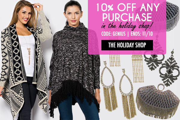 Take 10% Off Our Holiday Shop