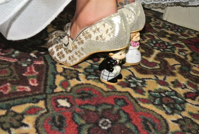 Funky bride high heels