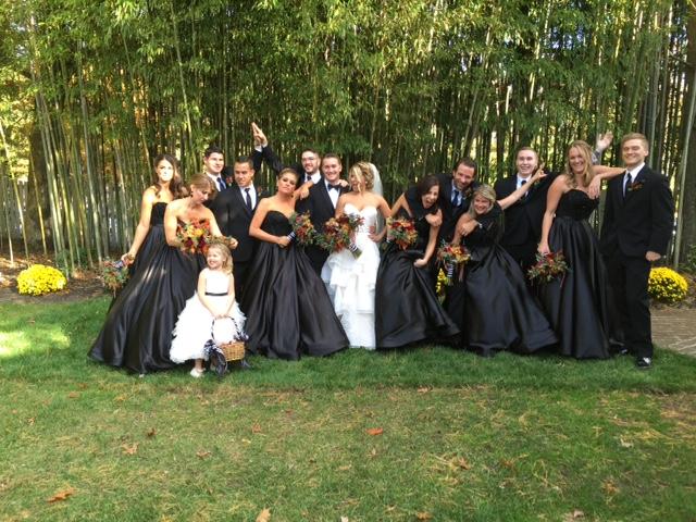 Halloween Wedding Bridal Party