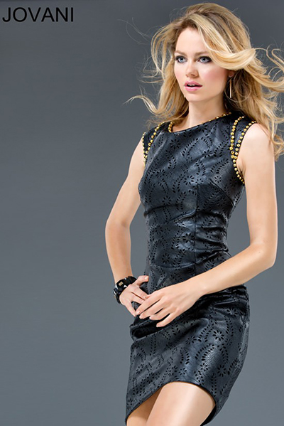 Leather Dress Jovani 88152