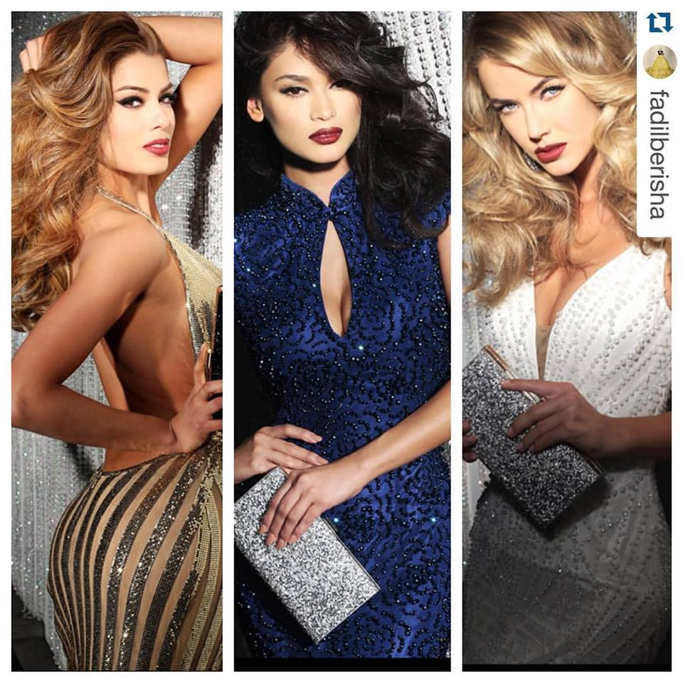 Miss Universe 2015 Top 3 in Sherri Hill