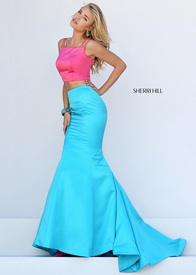 Sherri Hill 50466 with Pantone Color of the Year colors