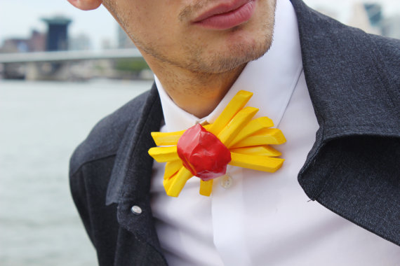 Fries and Ketchup Bowtie