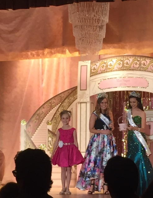 Ryleigh Flynn Miss Sugar Pageant Stage