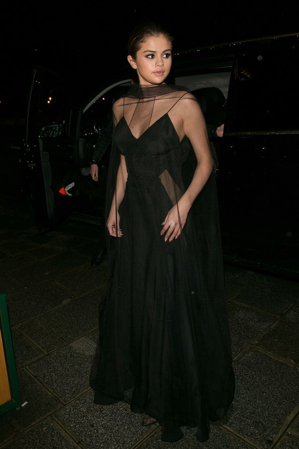 Selena Gomez Cape Dress