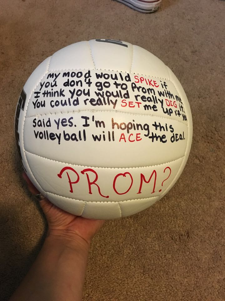 Volleyball Promposal at Oakcrest High School in New Jersey