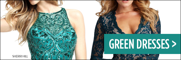 Homecoming 2017 Trend Green Dresses