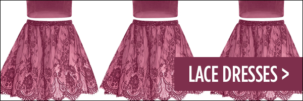 Homecoming 2017 Trend Lace Dresses